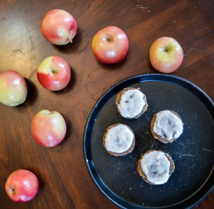 Apple Muffins with Cream Cheese Glaze