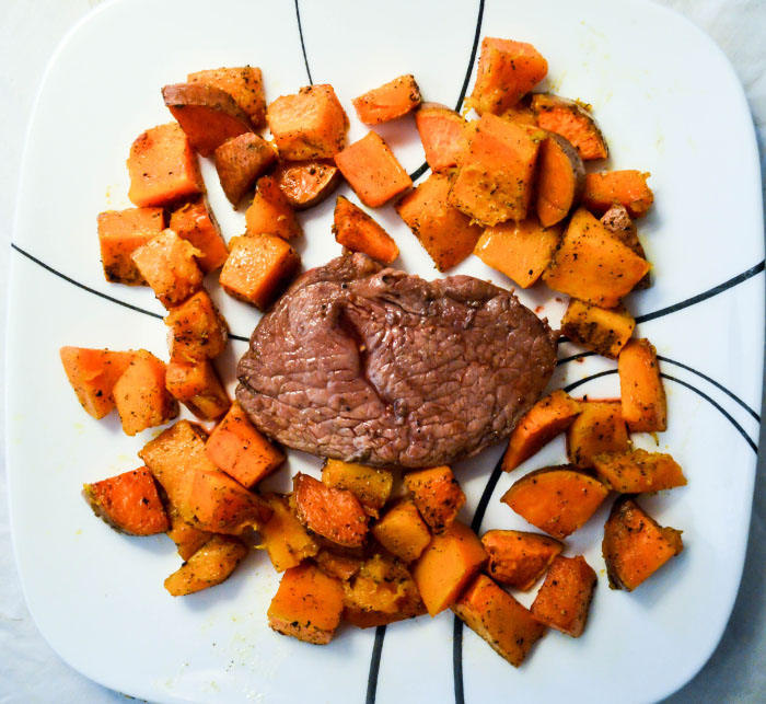 Roasted Sweet Potatoes and Butternut Squash