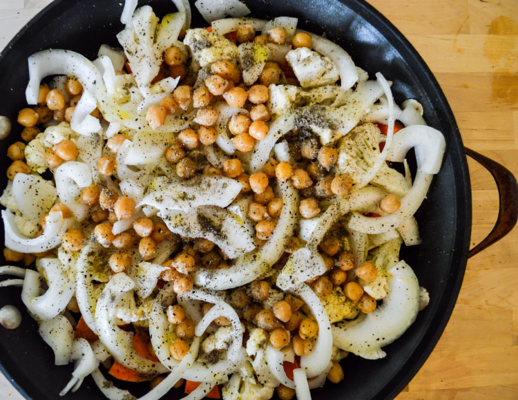 Crispy Chickpea and Sweet Potato Salad