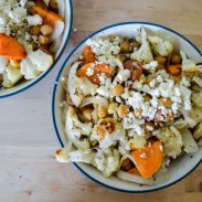 Crispy Chickpea and Sweet Potato Salads
