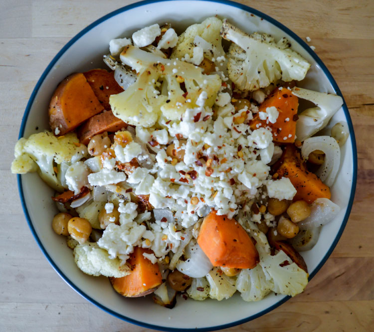 Crispy Chickpea and Sweet Potato Salad