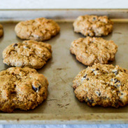 Pumpkin Spice Whole Wheat Chocolate Chip Cookies