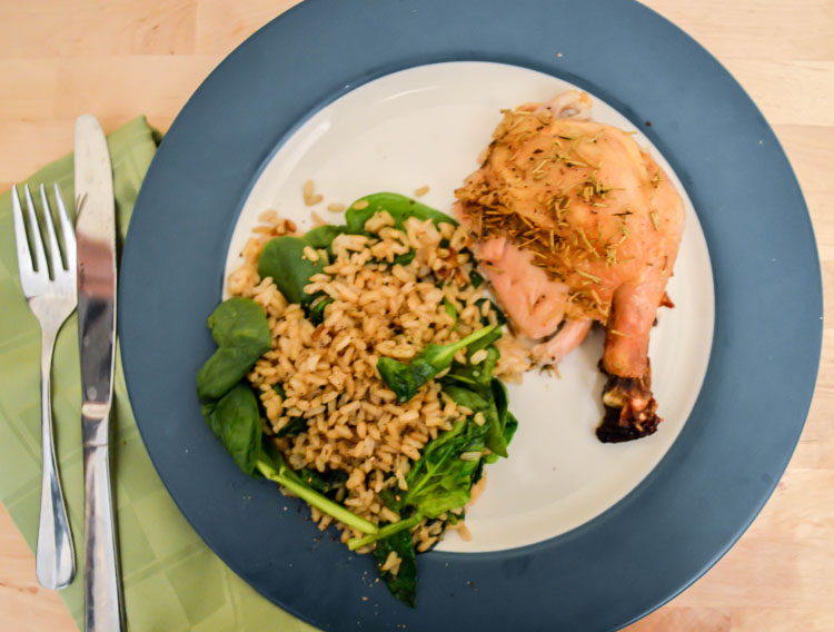 Rosemary and Shallot Roasted Chicken