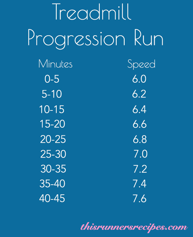 Treadmill Progression Run