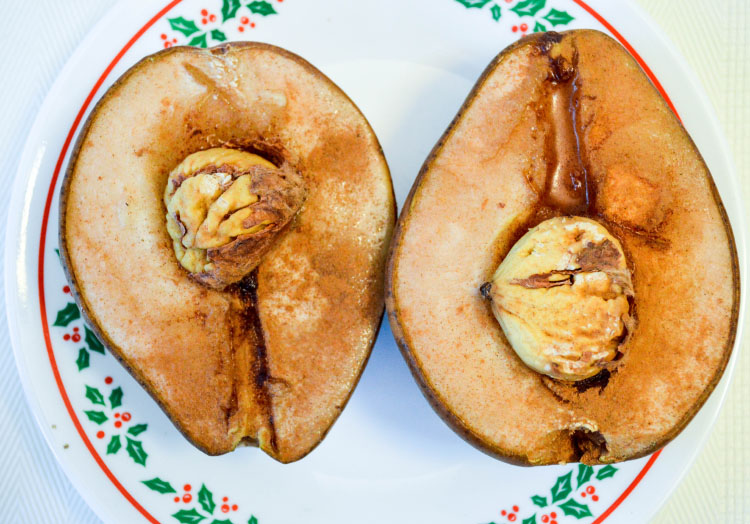 Cinnamon Roasted Pear with Chestnuts