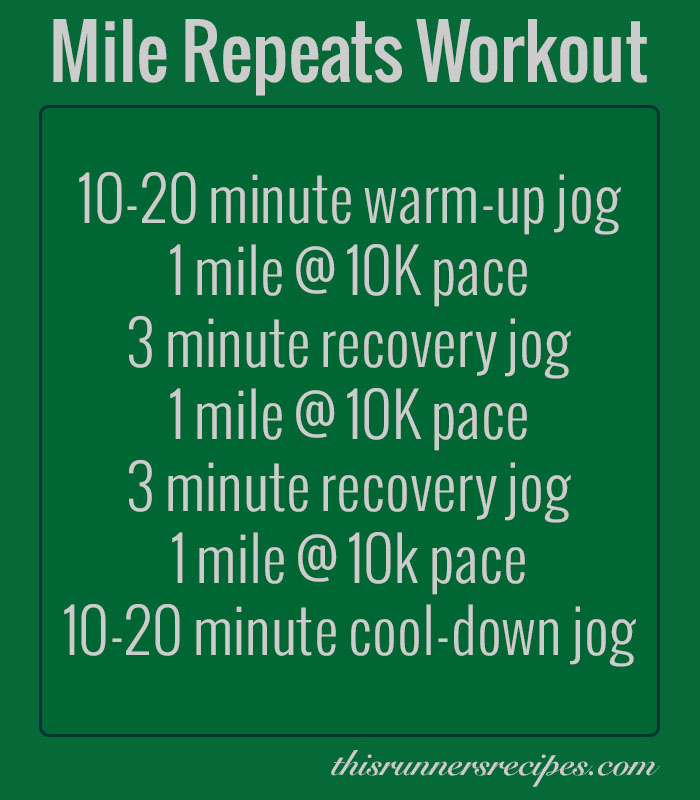 Mile Repeats Workout