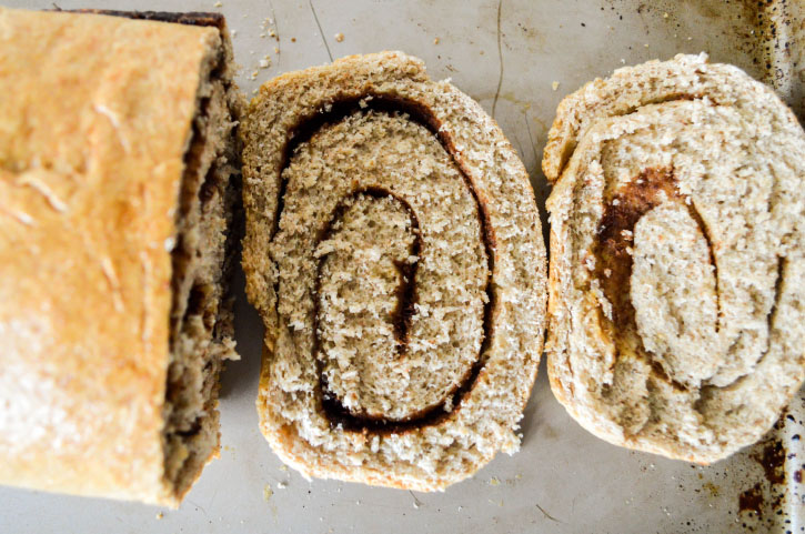 Vanilla Cinnamon Swirl Bread
