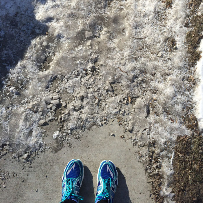 Discipline and consistency mean getting out there in less than ideal conditions