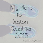 My Plans for a Boston Qualifier in 2015