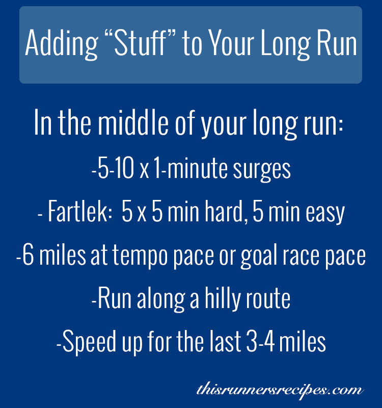 Adding Stuff to Your Long Run