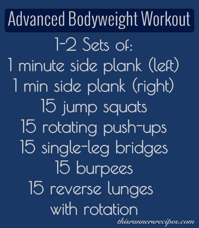 Advanced Bodyweight Strength Workout