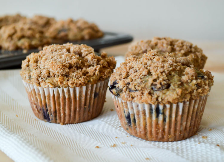 Healthy Oatmeal Blueberry Chocolate Chip Muffins