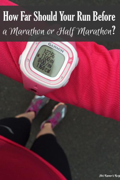 How Far Should You Run Before a Half Marathon or Marathon?
