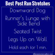 My Favorite Post Run Stretches