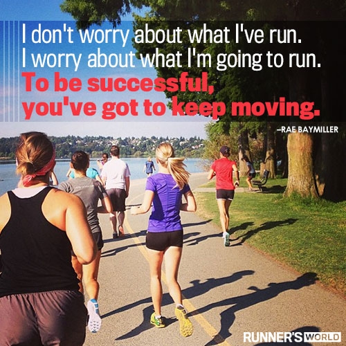 I love this quote. Image courtesy of Runner's World.