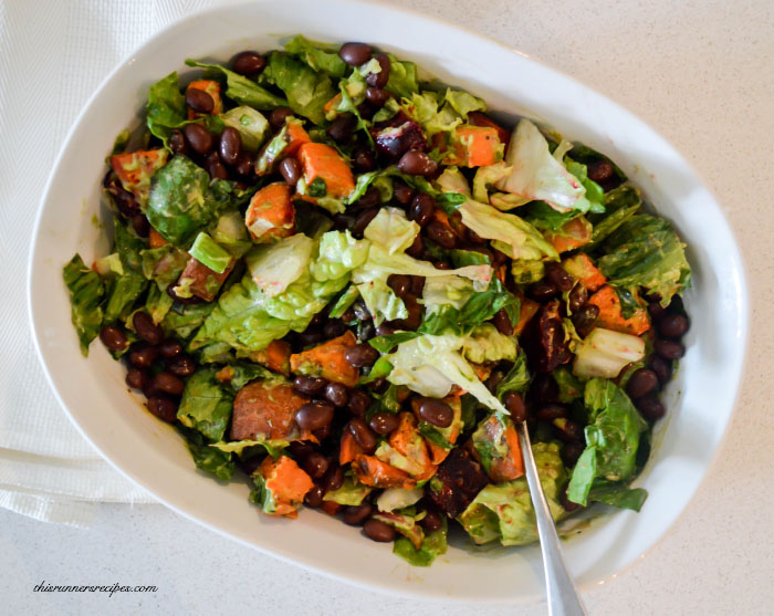Roasted Root Vegetable Salad with Creamy Avocado Dressing {This Runner's Recipes}