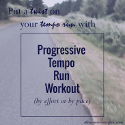Progressive Tempo Run Workout