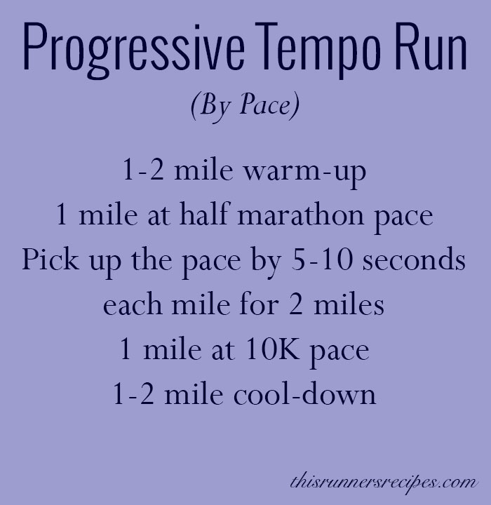 Progressive Tempo Run Workout Pace