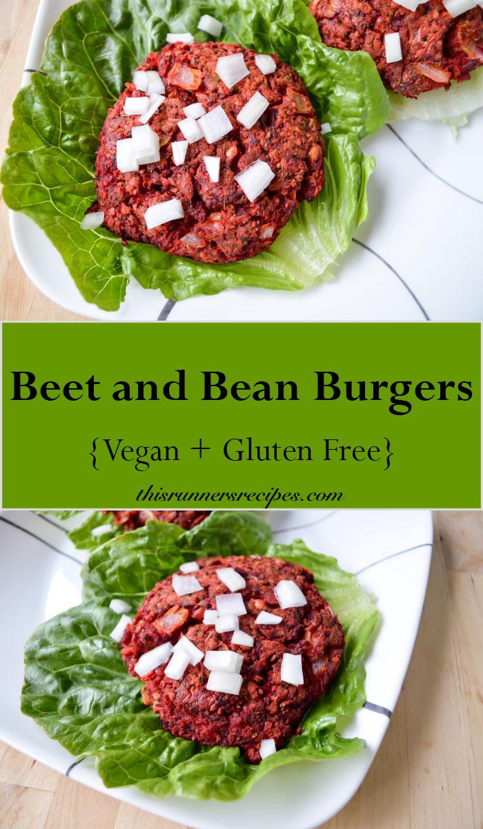 Vegan and Gluten Free Beet and Bean Burgers