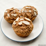Ginger Almond Oat Muffins