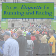 Good Etiquette for Running and Racing
