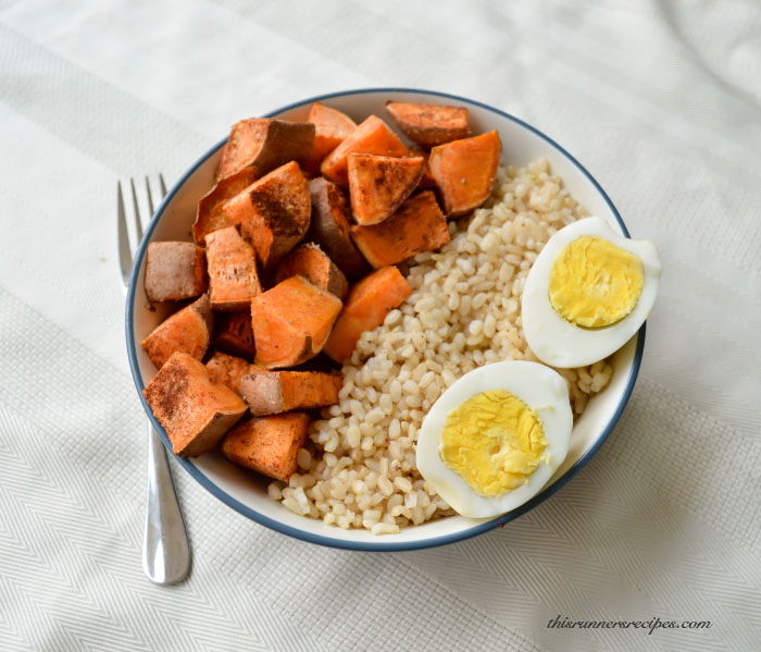Gluten Free Vegetarian Sweet Potato Brown Rice Bowl
