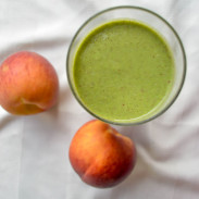 Peach Arugula Protein Smoothie