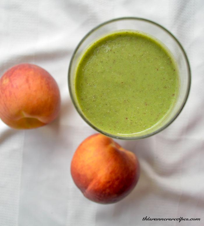 Peach Arugula Protein Smoothie