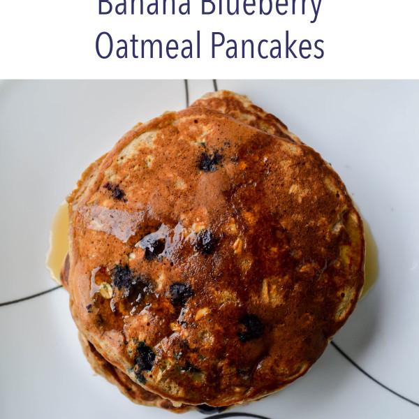 Eat to Run Cookbook Ebook Blueberry Banana Oatmeal Pancakes Recipe