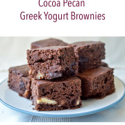 Eat to Run Cookbook Ebook Cocoa Pecan Greek Yogurt Brownies Recipe