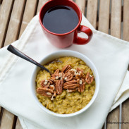 Kabocha Squash Maple Oatmeal {Gluten Free, Vegetarian}