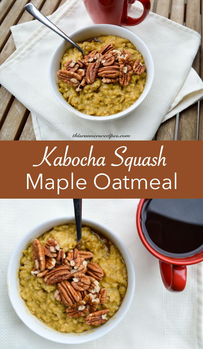 Kabocha Squash Maple Oatmeal Gluten free Vegetarian