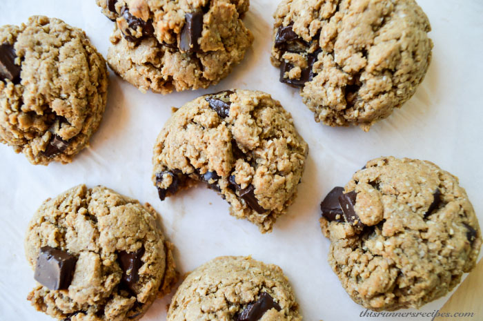 No Butter Peanut Butter Chocolate Chip Cookies