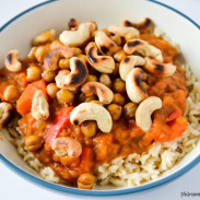 Coconut Pumpkin Chickpea Curry {Vegan + Gluten Free}