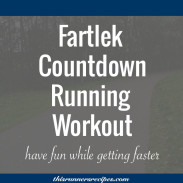 Fartlek Countdown Running Workout for Off-Season Speed Work