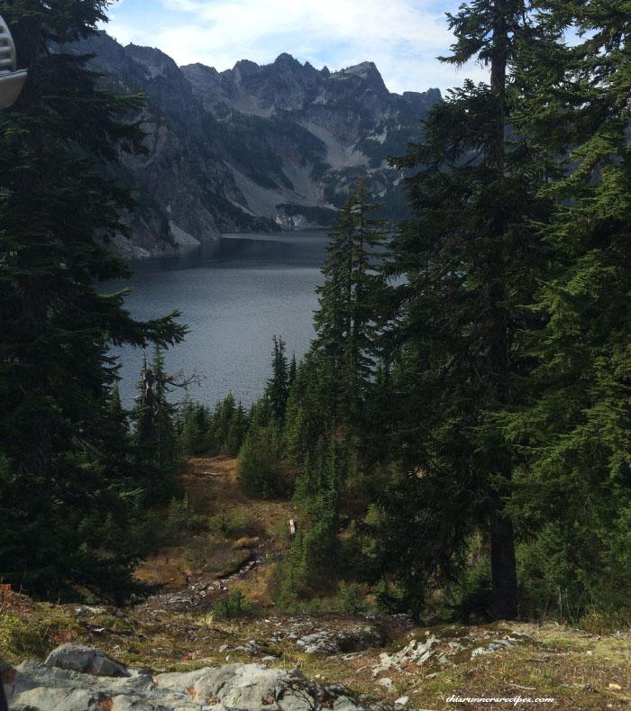 Hiking at Snow Lake in the Washington Cascades