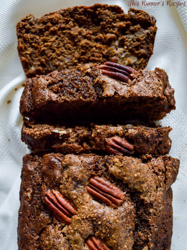 Whole Wheat Banana Nut Gingerbread Loaf - a healthy, sweet, and spiced quick bread perfect for a holiday dessert or Christmas breakfast!