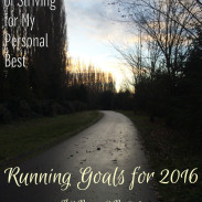 My Running Goals for 2016