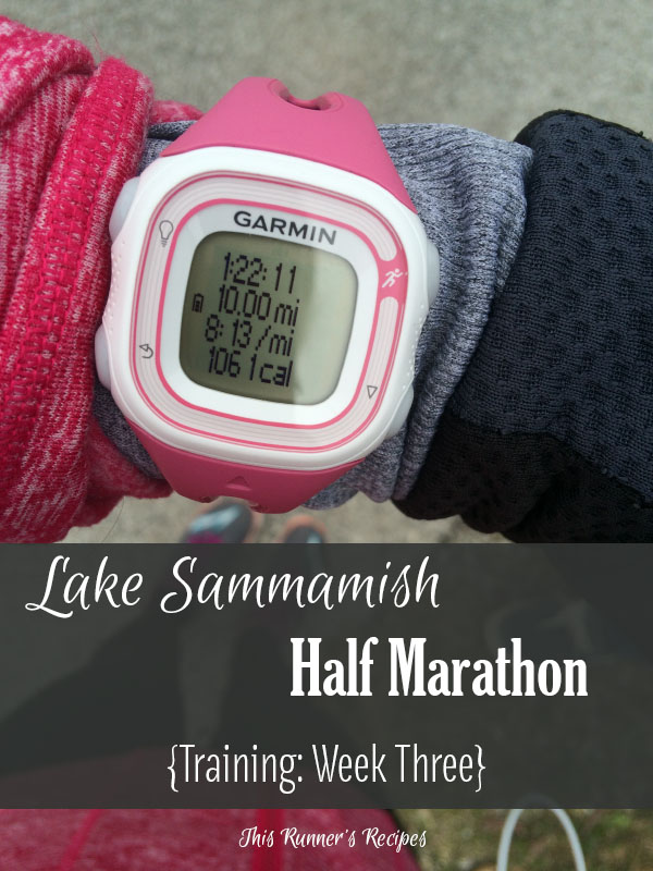 Lake Sammamish Half Marathon Training Week 3