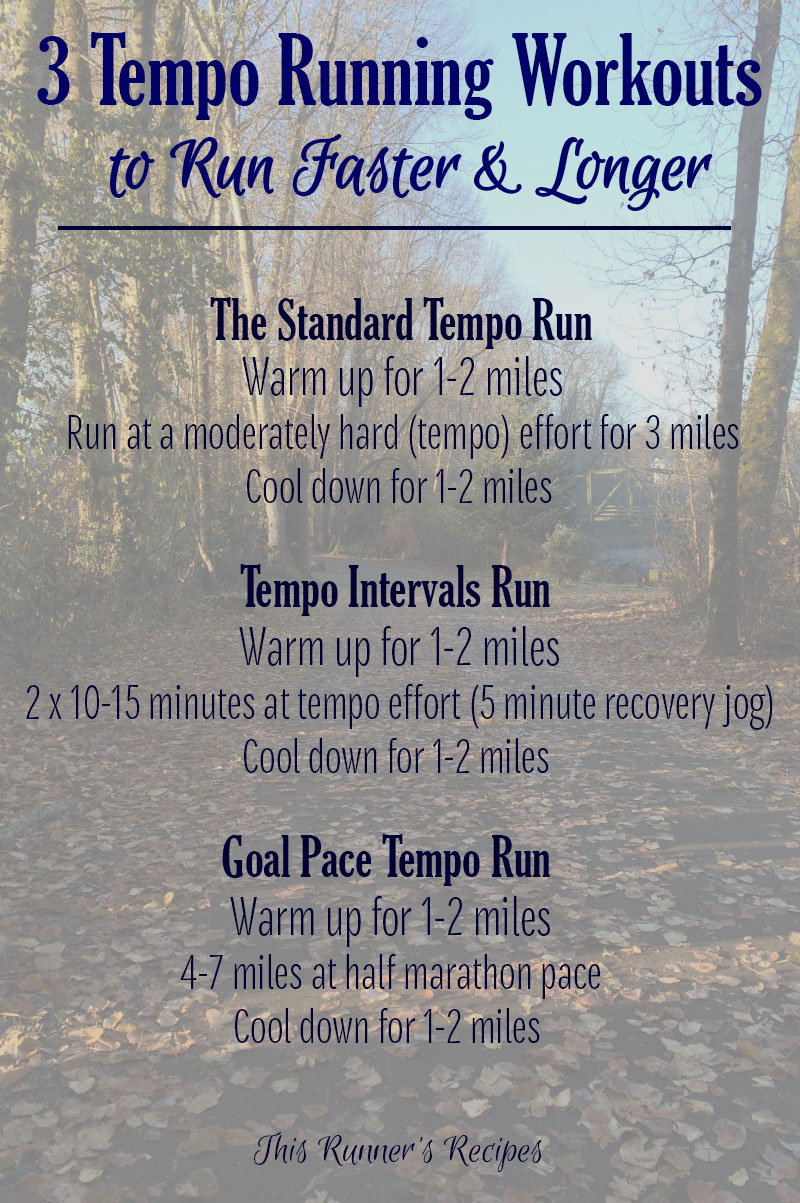 3 Variations of Tempo Runs