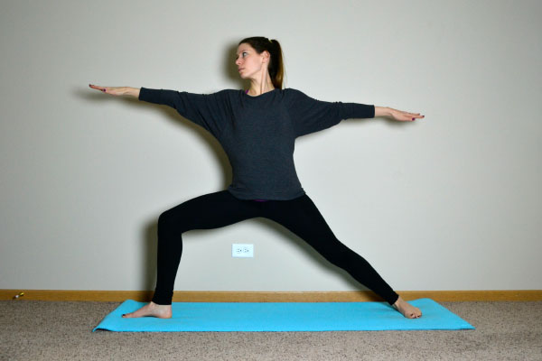Yoga Poses for Stronger Running Form: Warrior II