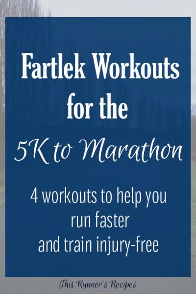 Fartlek Workouts for the 5K through Marathon