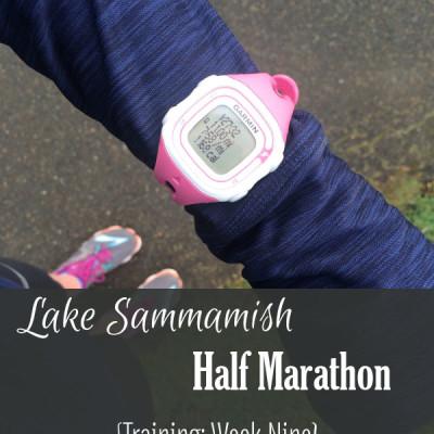 Mile Markers: Lake Sammamish Half Marathon Training Week 9