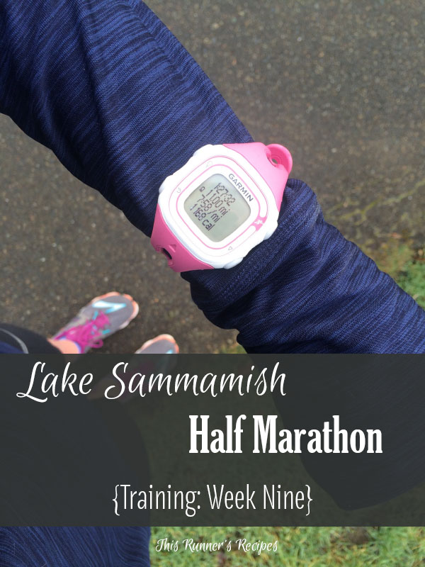 Lake Sammamish Half Marathon Training Week 9