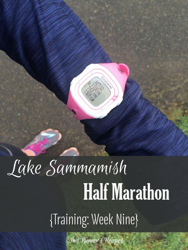 Lake Sammamish Half Marathon Training Week 9