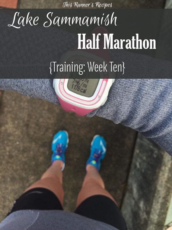Lake Sammamish Half Marathon Training Week 10