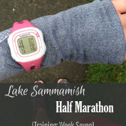 Mile Markers: Lake Sammamish Half Marathon Training Week 7