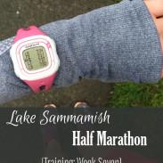 Mile Markers: Lake Sammamish Half Marathon Training Week 7