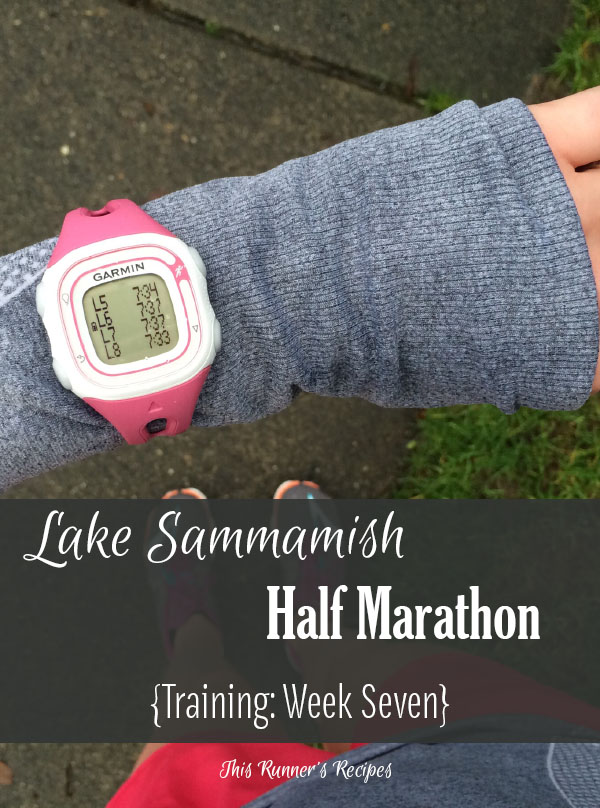 Lake Sammamish Half Marathon Training Week 7