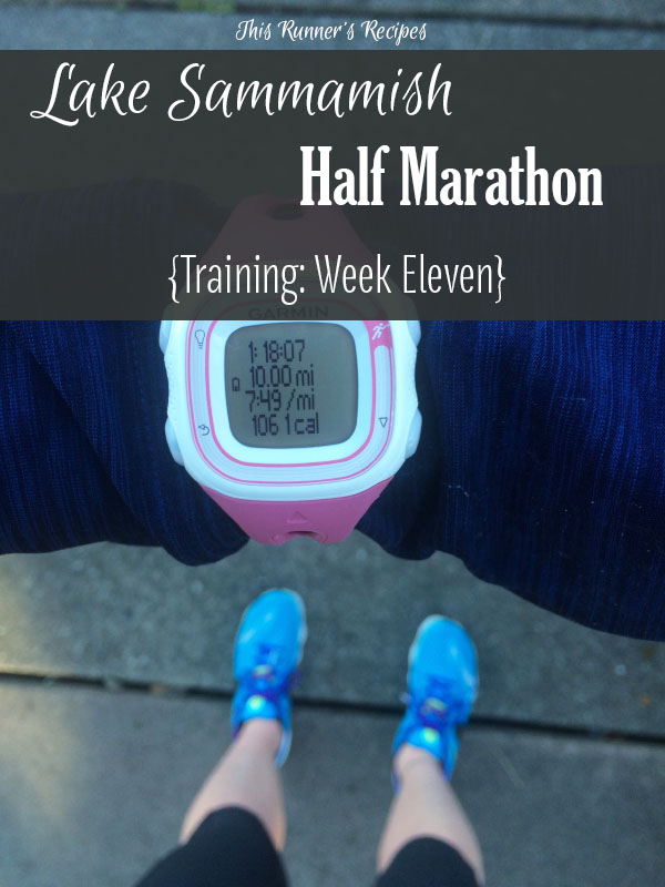 Lake Sammamish Half Marathon Training Week 11